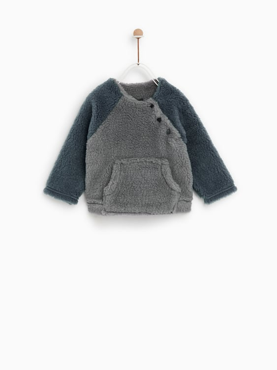 b85aabc262d Shoptagr   Faux Shearling Hoodie Collectionsale Baby Boy by Zara