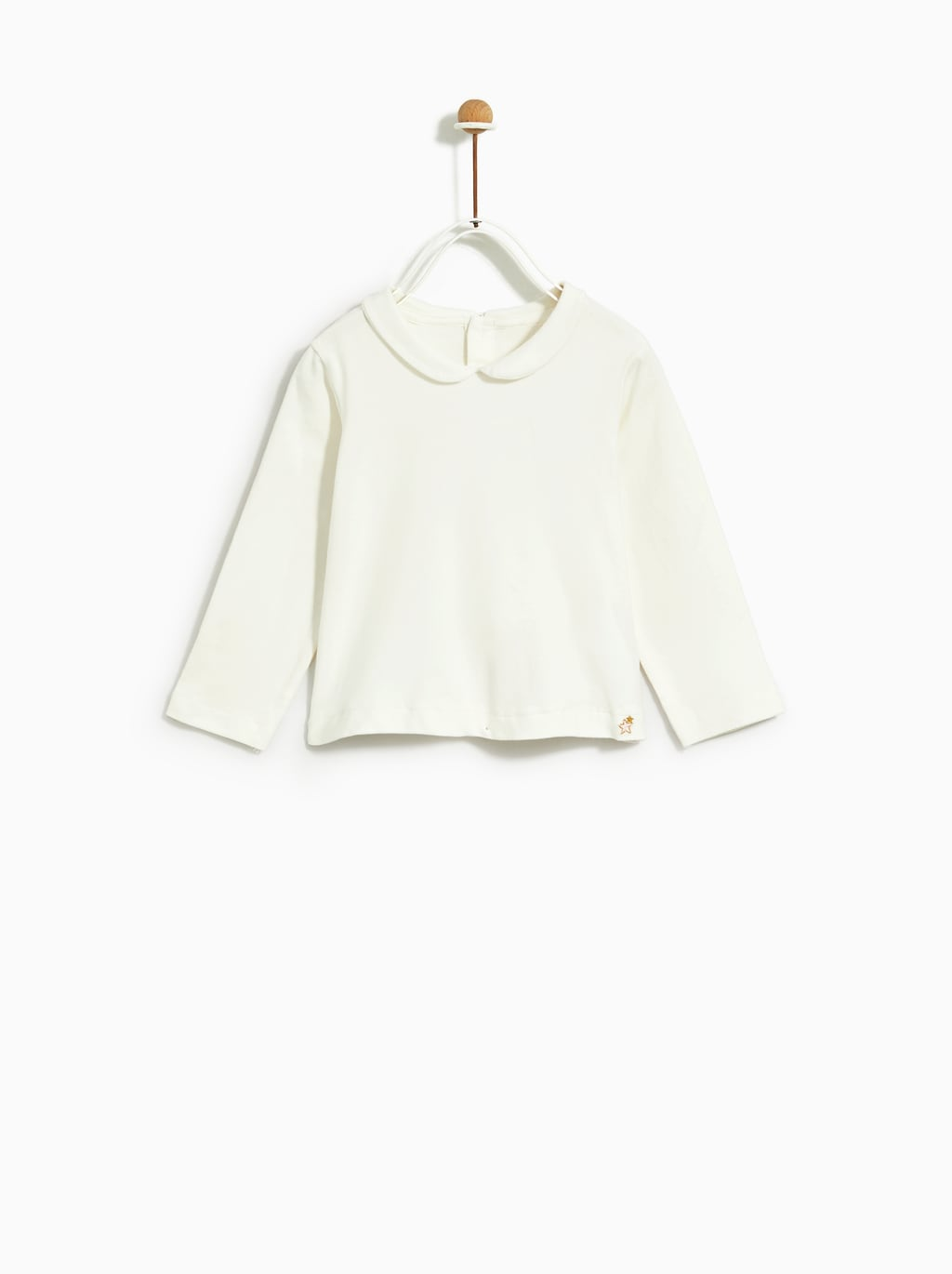 Image 2 of T-SHIRT WITH PETER PAN COLLAR from Zara