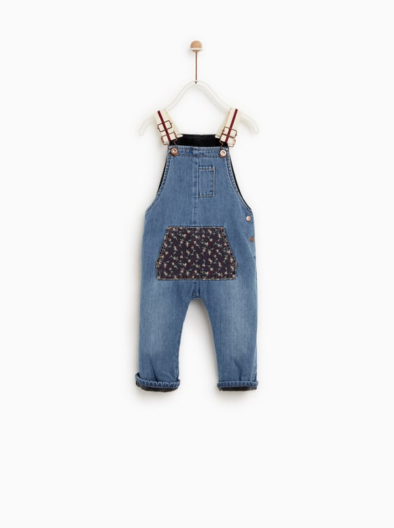Lined Denim Dungarees  Dresses And Jumpsuitsbaby Girl by Zara