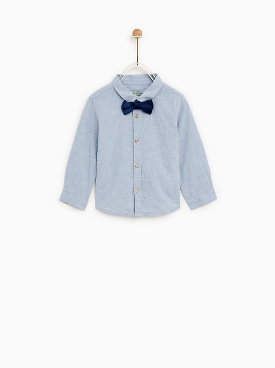 SHIRT WITH BOW TIE - COLLECTION-SALE-BABY BOY  4ce7acf0d26