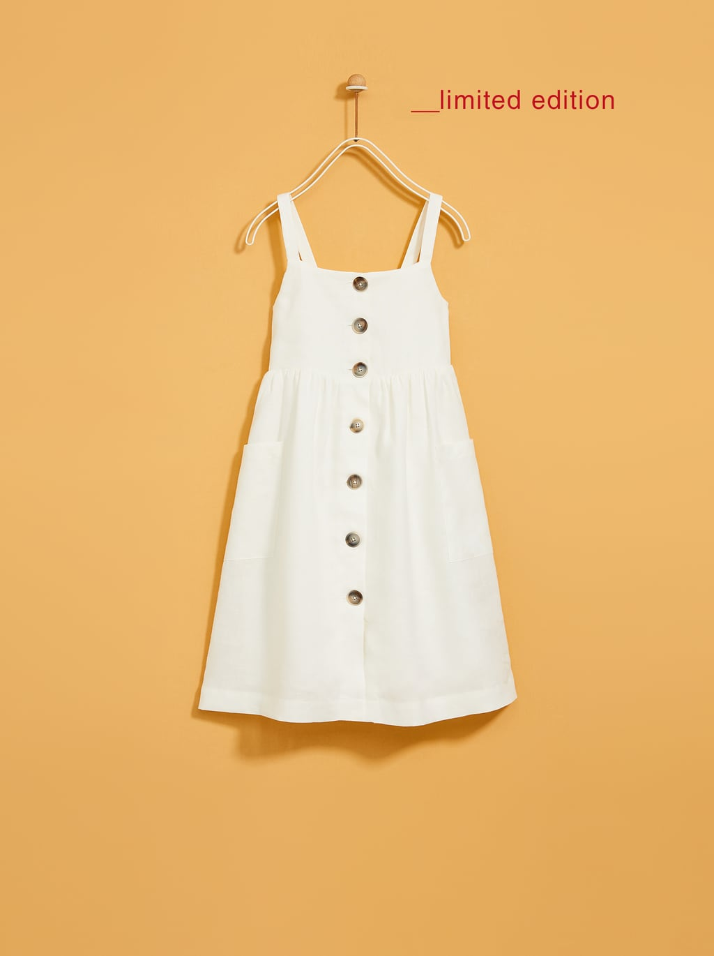 Image 2 of LINEN DRESS WITH BUTTONS from Zara
