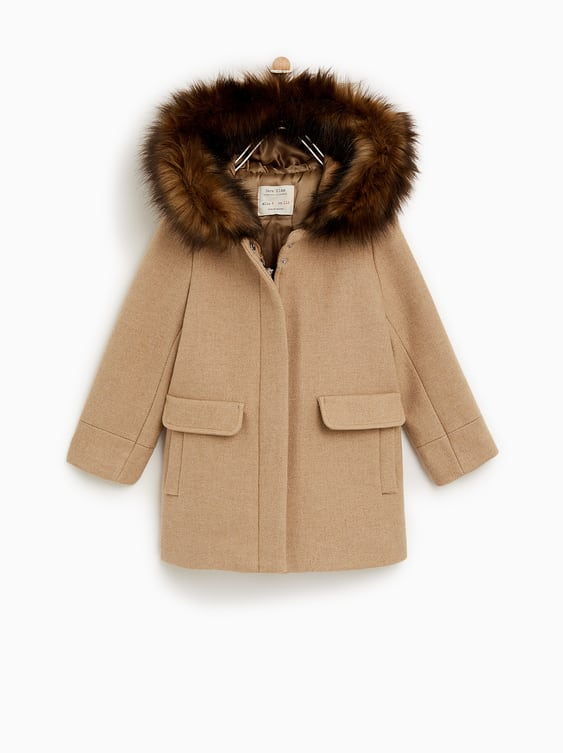 4d224002 Shoptagr | Duffle Coat With Faux Fur Hood Collectionsale Girl by Zara