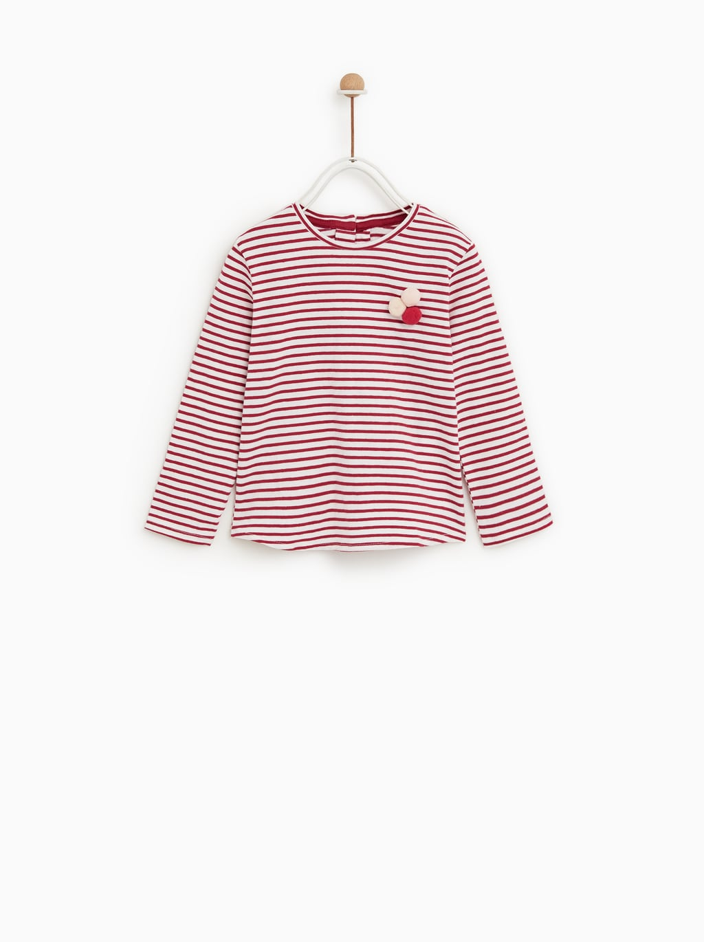 Image 1 of POMPOM TOP from Zara