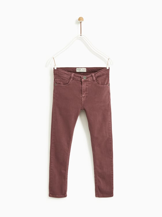 Serged Skinny Jeans  Pants Basics Boy by Zara