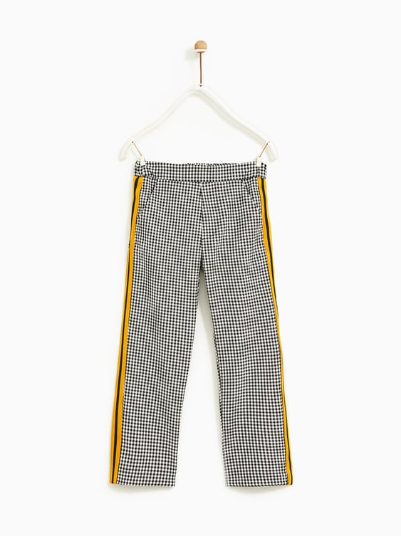 Check Trousers With Side Stripes  Leggings And Trousersgirl by Zara