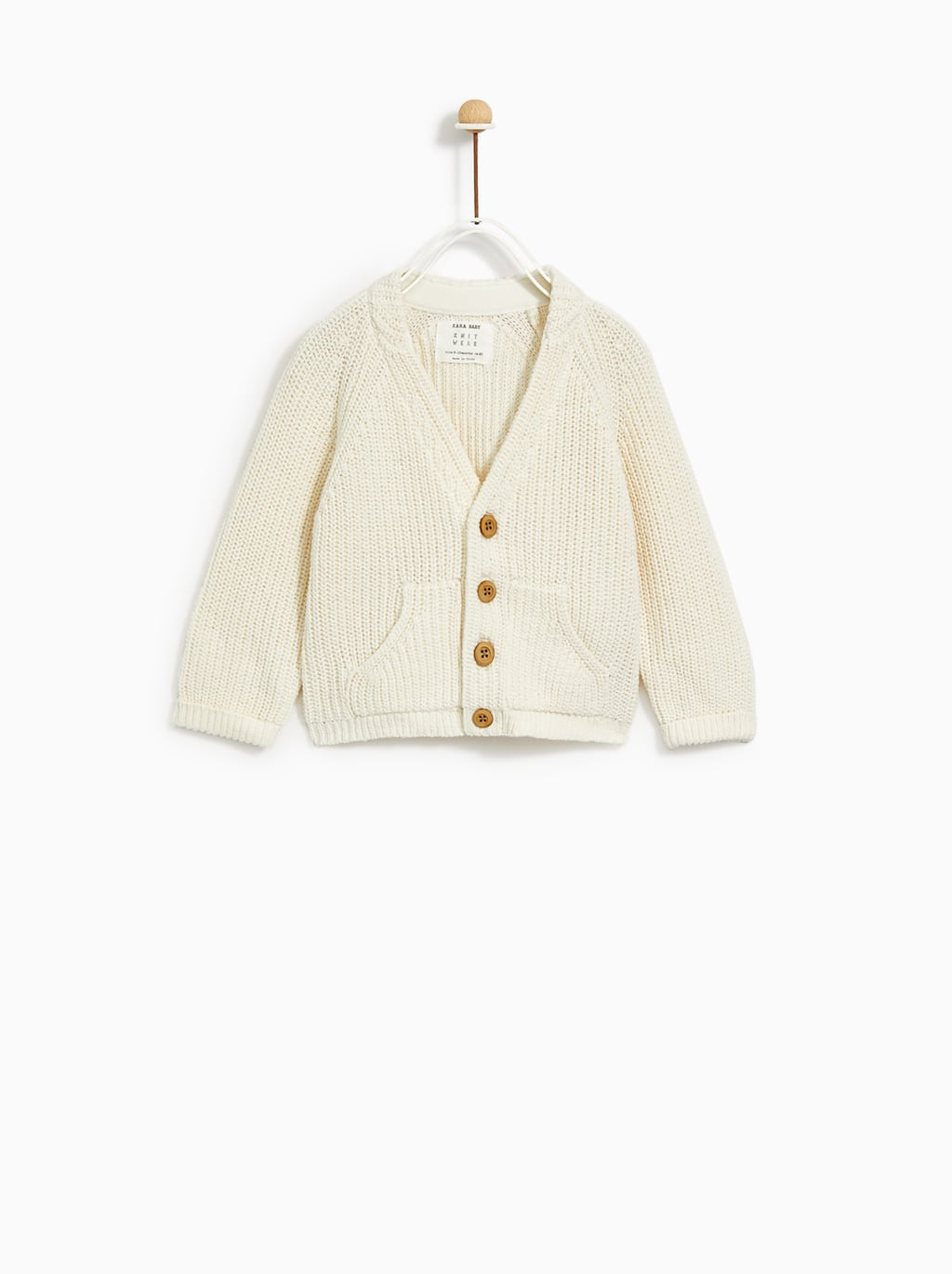 Image 1 of KNIT JACKET WITH BUTTONS from Zara