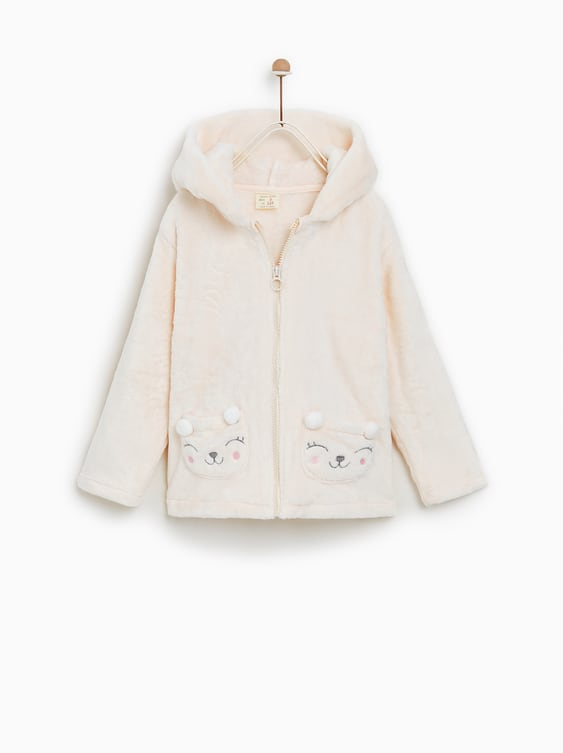 Jacket With Pompoms  View All Girl Accessories Kids by Zara