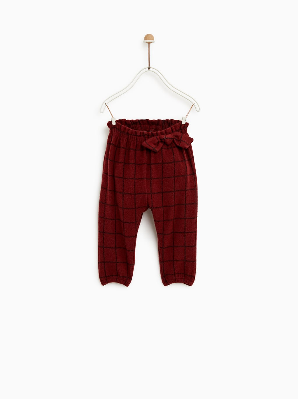 Image 2 of PLAID PANTS WITH BOW from Zara