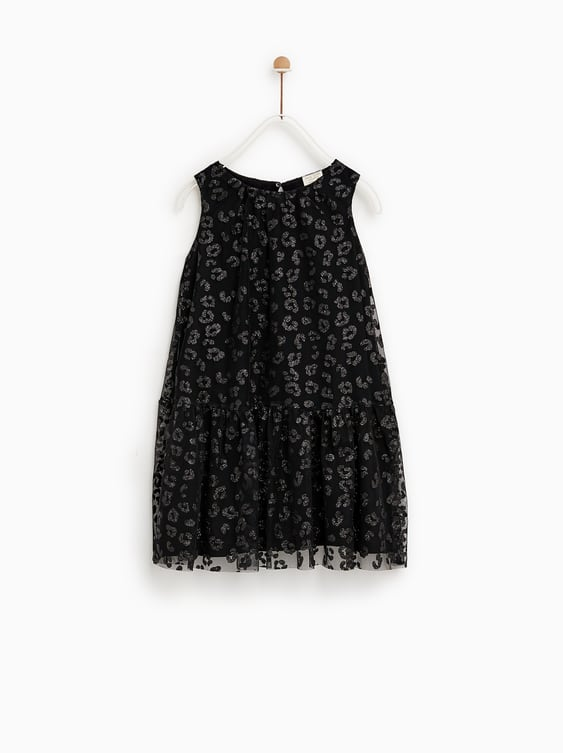 cf1fbb3563 ANIMAL PRINT TULLE DRESS - DRESSES AND JUMPSUITS-SALE-GIRL