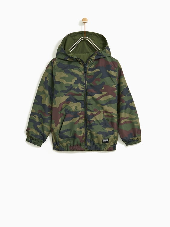 3e93d73ff REVERSIBLE CAMOUFLAGE RAINCOAT - Coats and Blazers-OUTERWEAR-BOY | 5 ...