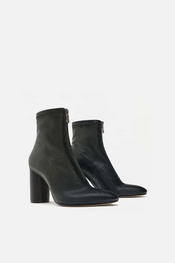 Heeled Stretch Ankle Boots  Boots And Ankle Boots Woman Shoes by Zara