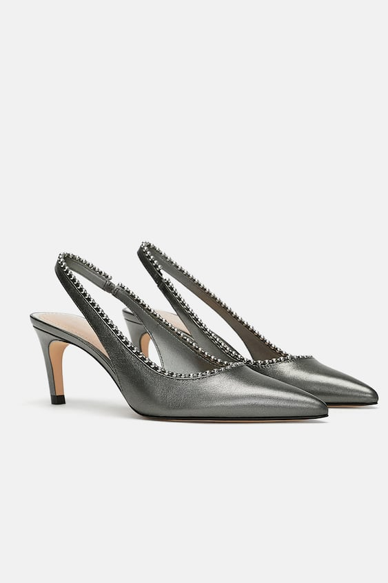 5f6465846910 leather-mid--heel-slingback-shoesshoes by zara