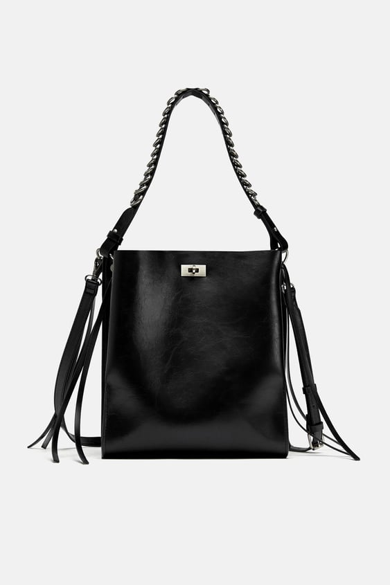 c0a5b1fa6e6803 BUCKET BAG WITH RINGS ON THE HANDLE