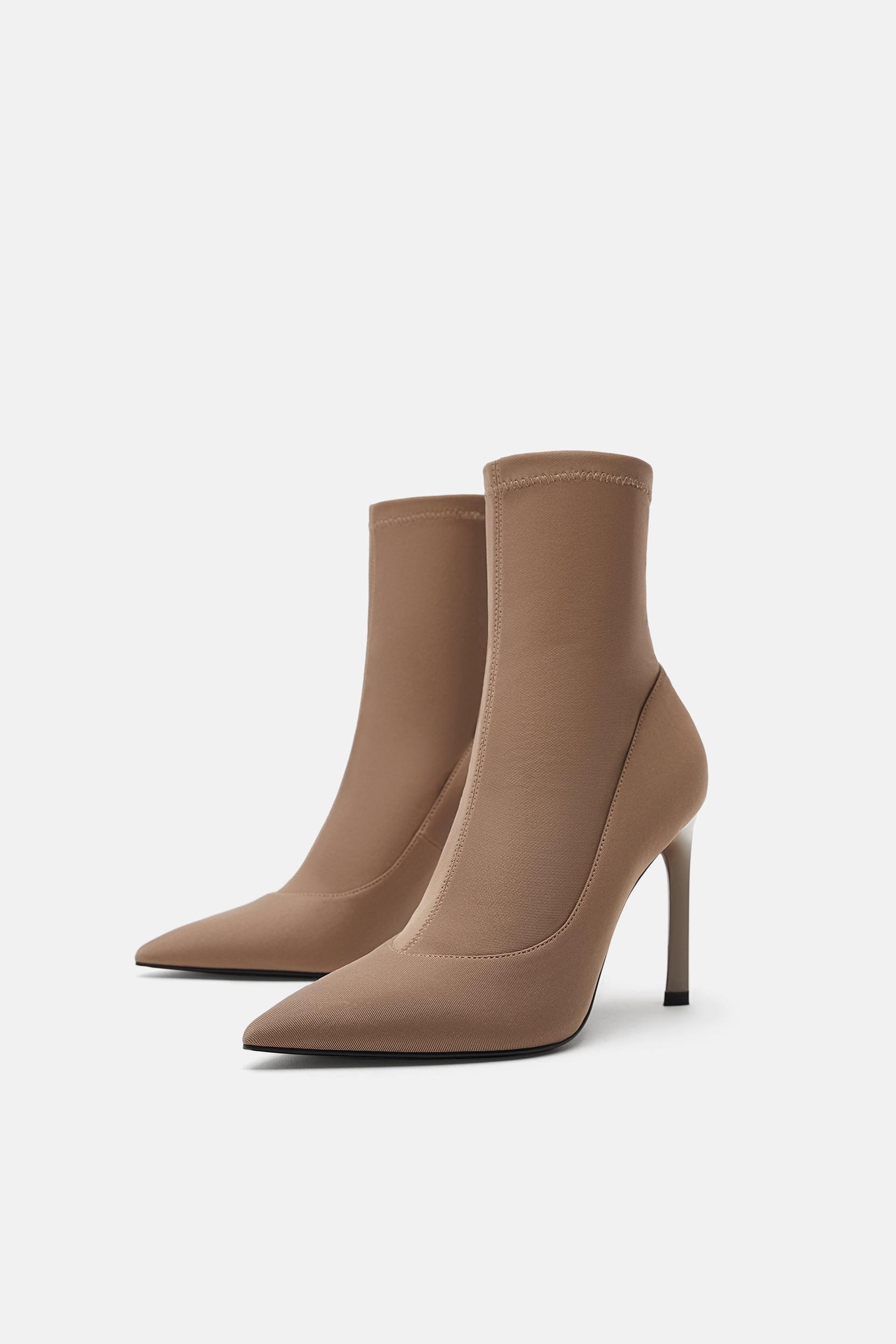 Heeled Sock  Style Ankle Bootstrf Shoes by Zara