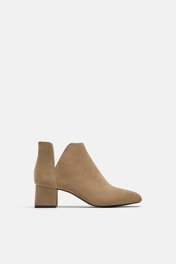 High Heel Leather Ankle Boots With Openings  View All Woman Shoes by Zara