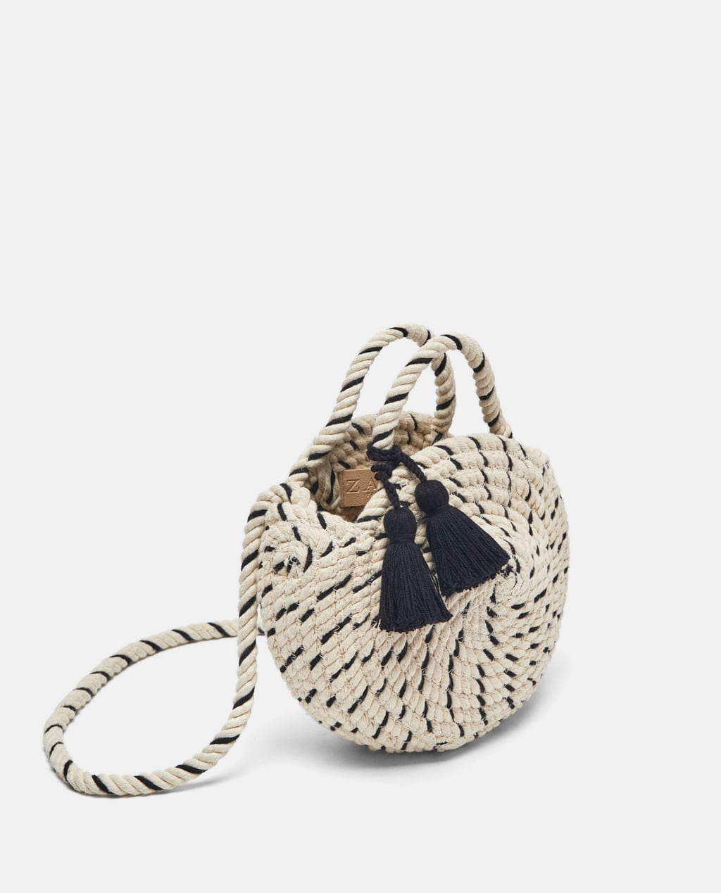 Image 1 of BRAIDED COTTON MINI TOTE BAG from Zara