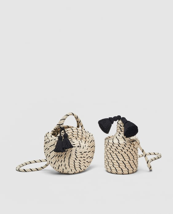 Image 7 of BRAIDED COTTON MINI TOTE BAG from Zara