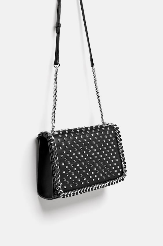 Image 1 Of Studded Crossbody Bag From Zara
