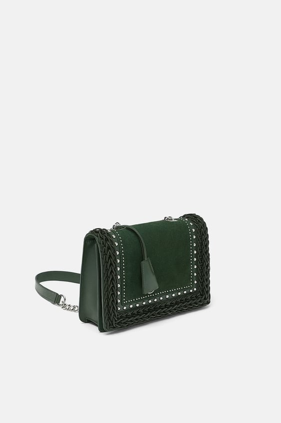 Braided Detail Leather City Bag View All Bags Woman by Zara