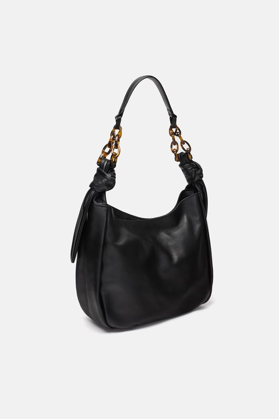 Leather Shopper With Ring Detail  View All Bags Woman by Zara
