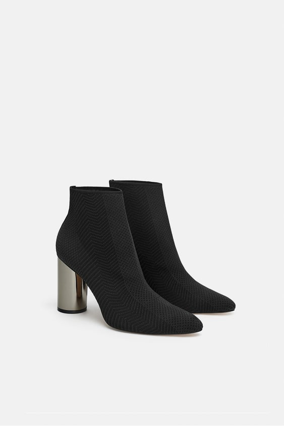 fabric-ankle-boot-with-metallic-heel--view-allshoes-woman by zara