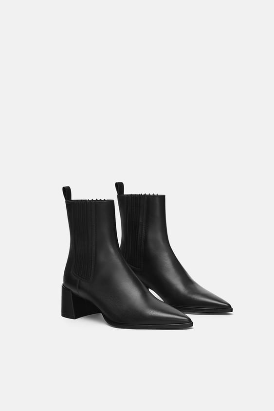 Leather High Heel Ankle Boots View All Shoes Woman Sale by Zara
