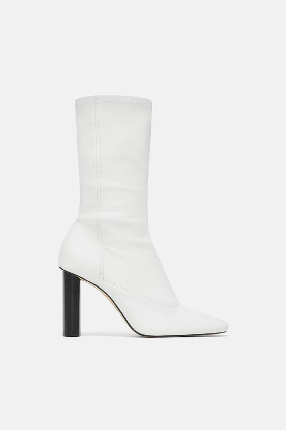Image 1 of LEATHER HIGH-HEEL ANKLE BOOTS from Zara 4df724e659