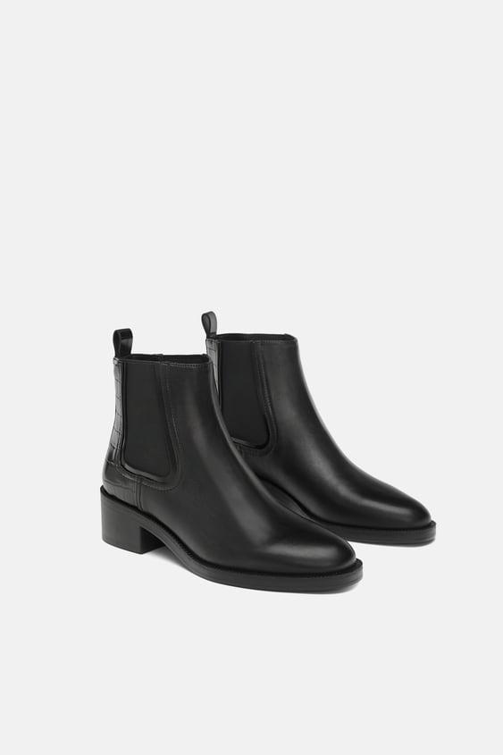 Leather Chelsea Boots  Trending Nowwoman by Zara