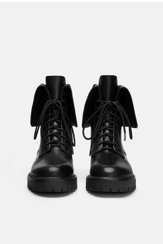 Embroidered Leather Biker Boots  Booties Woman Shoes Sale by Zara