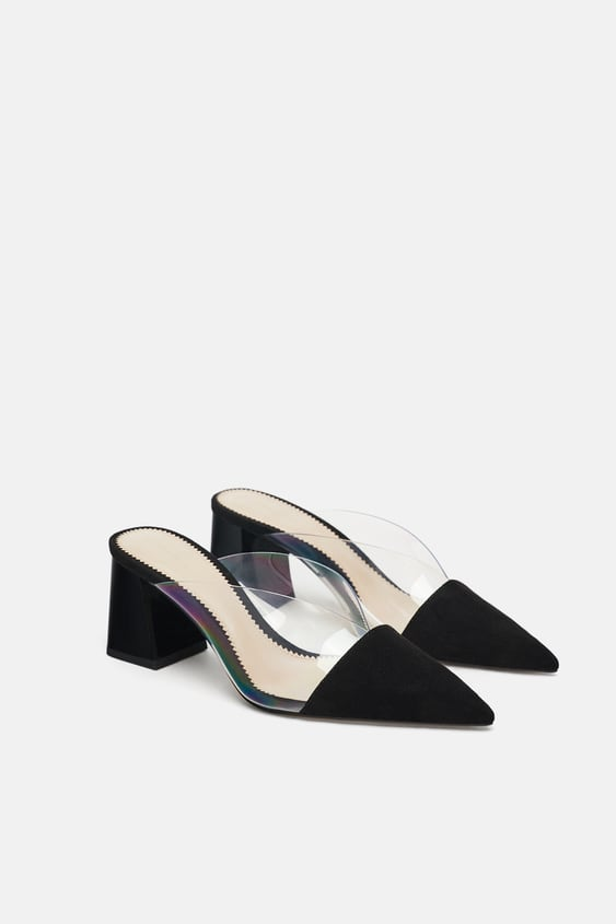 High Heeled Vinyl Mule Dress Time Woman New Collection Zara