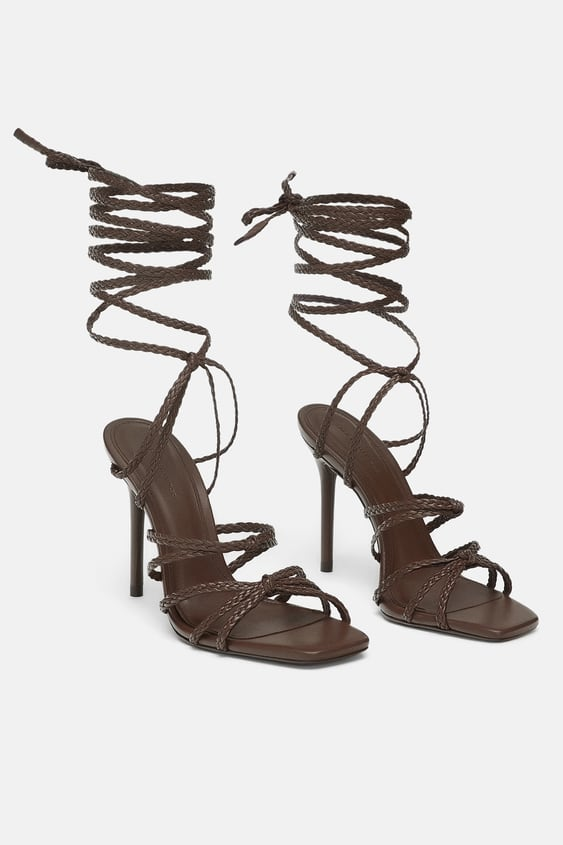 e28e04b8fd8 Image 1 of STRAPPY LEATHER SANDALS from Zara
