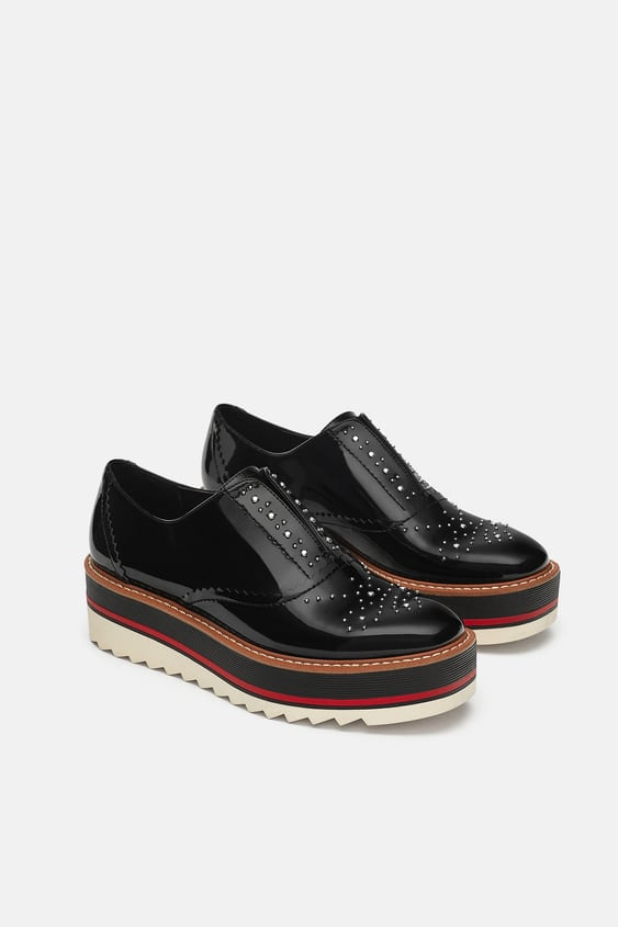 77d9803b STUDDED FLATFORM OXFORDS - View all-SHOES-WOMAN-SALE   ZARA United ...