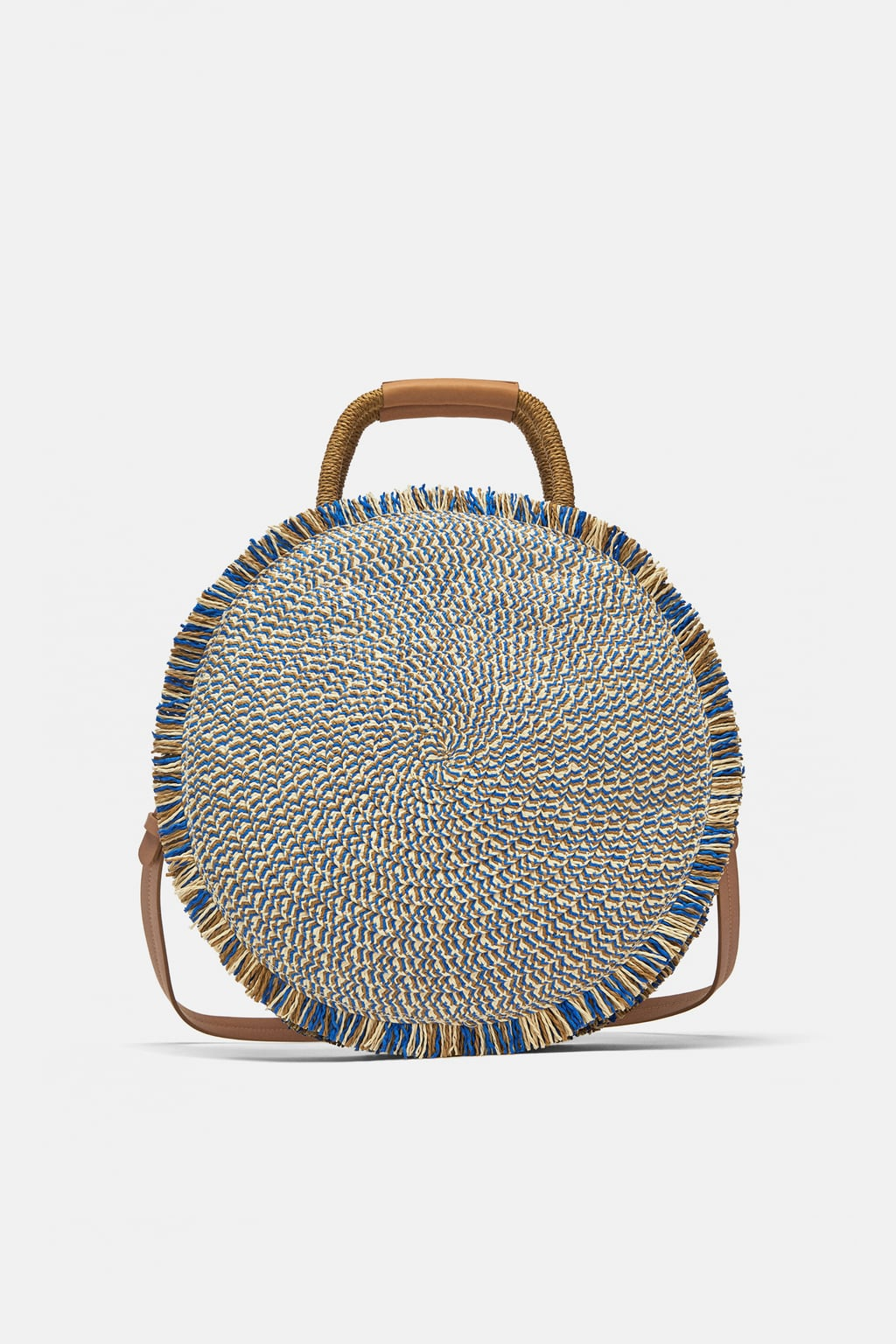 Image 1 of ROUND WOVEN BASKET from Zara