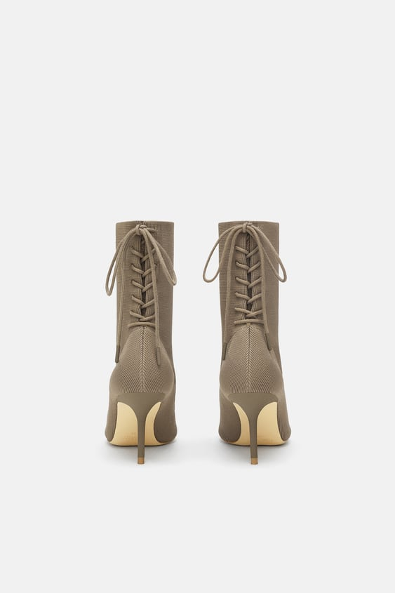 Laced High Heel Ankle Boots View All Shoes Woman Sale Zara