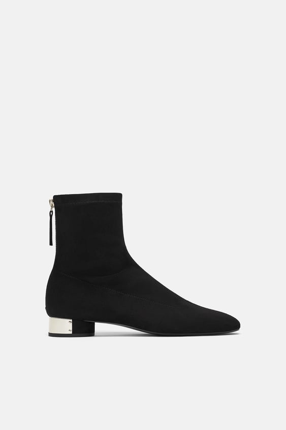 Flat Ankle Boots With Metal Detail  Promotion 40 Percents Woman by Zara