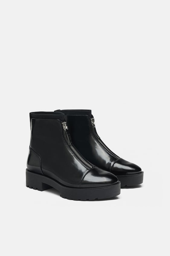 Track Sole Ankle Boots  Ankle Boots Woman Shoes Sale by Zara