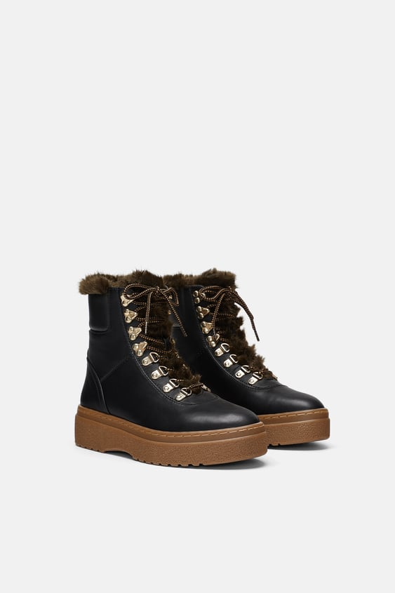 Mountain Boots  Ankle Boots Shoes Woman by Zara