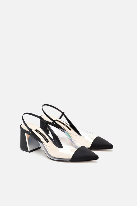 dc6c6f5690 HEELED SLINGBACK VINYL SHOE - View all-SHOES-WOMAN-SALE | ZARA ...