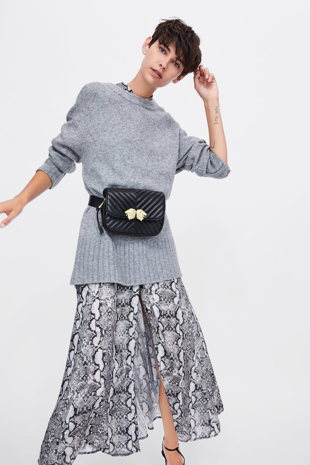 Crossbody Belt Bag With Lionhead Detail  View All Woman Shoes Sale by Zara