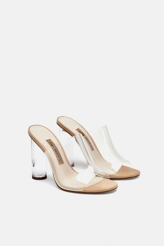 Vinyl Mules With Methacrylate Heel  View All Woman Shoes by Zara