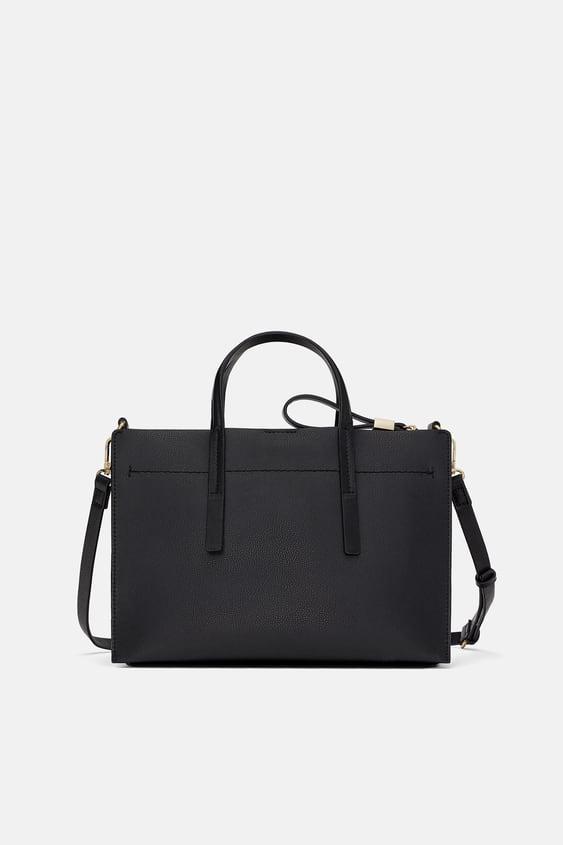 b778280265 Shoptagr | City Bag Midi Con Cerniera Borse by Zara