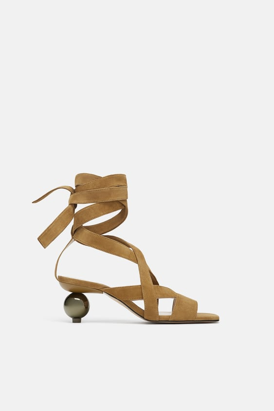 Round Heeled Sandals  Sandals Woman Shoes by Zara