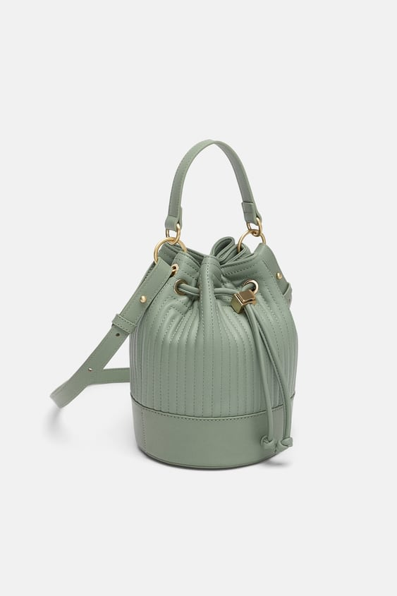 Image 1 Of Quilted Mini Bucket Bag From Zara