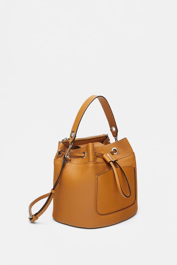 Image 1 Of Zipped Bucket Bag From Zara