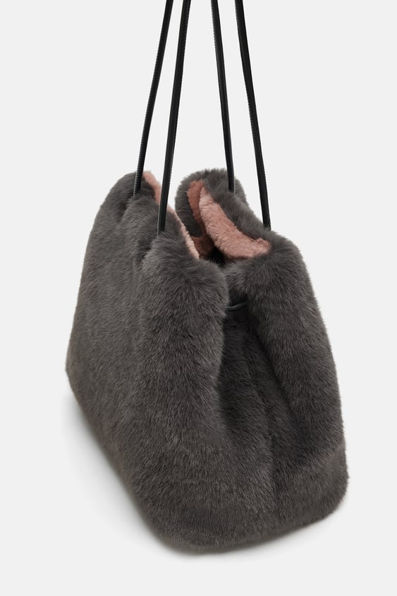 1cfa154354 REVERSIBLE FAUX FUR BUCKET BAG - View all-BAGS-WOMAN