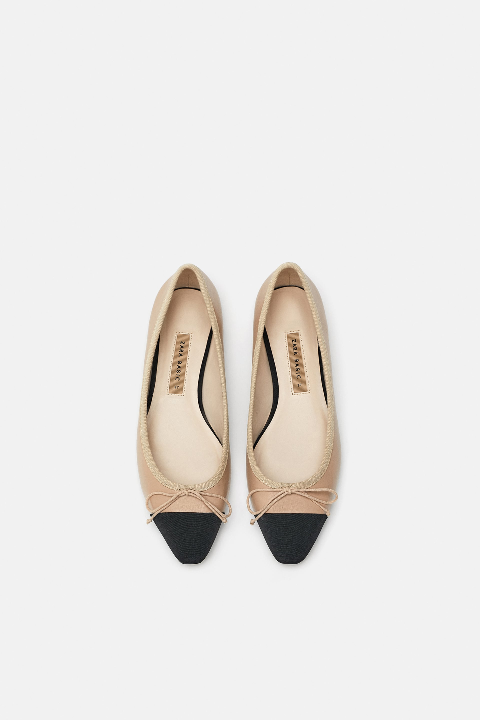 Image 1 of TWO-TONED BALLET FLATS from Zara