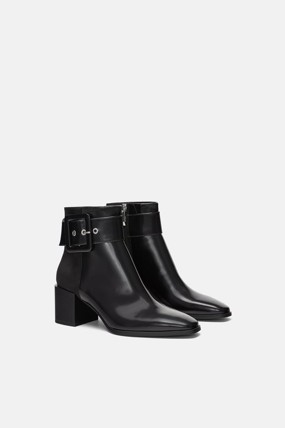 High Heel Ankle Boots With Buckle  View All Woman Shoes by Zara