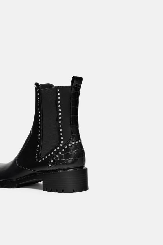 fdc3ad9c2039 FLAT ANKLE BOOTS WITH STUDS - View all-WOMAN-SHOES