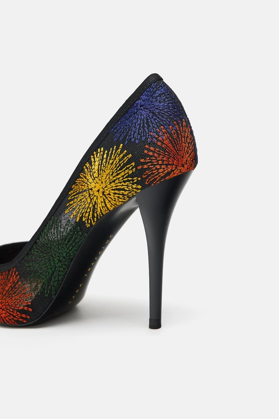 7f6b867eba9 Image 5 of EMBROIDERED COURT SHOES from Zara