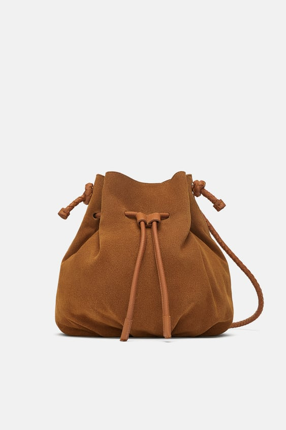 Image 2 Of Leather Bucket Bag From Zara